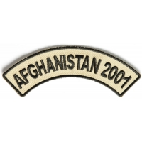 Afghanistan 2001 Rocker Patch | US Afghan War Military Veteran Patches