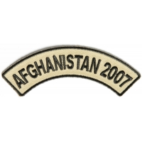 Afghanistan 2007 Rocker Patch | US Afghan War Military Veteran Patches