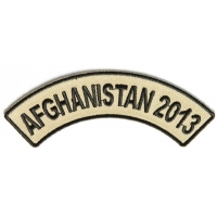 Afghanistan 2013 Rocker Patch | US Afghan War Military Veteran Patches