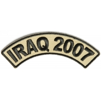 Iraq 2007 Rocker Patch | US Iraq War Military Veteran Patches