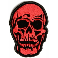 Small Red Baron Skull Patch | Embroidered Patches
