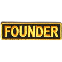Founder Patch 3.5 Inch Yellow