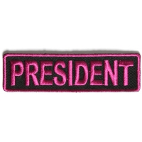 President Patch 3.5 Inch Pink
