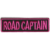 Road Captain Patch 3.5 Inch Pink