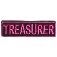 Treasurer Patch 3.5 Inch Pink