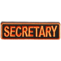 Secretary Patch 3.5 Inch Orange