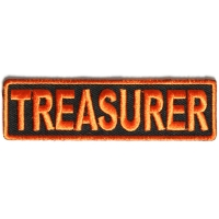 Treasurer Patch 3.5 Inch Orange