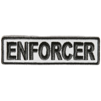 Enforcer Patch 3.5 Inch Reflective | Embroidered Patches