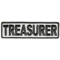 Treasurer Patch 3.5 Inch Reflective | Embroidered Patches