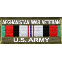 Afghanistan War Veteran US Army Patch Rect | US Military Veteran Patches