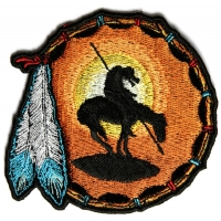 End Of The Trail Small Patch   Embroidered Patches