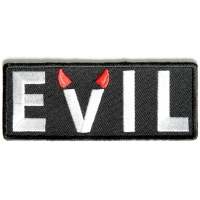 Evil Patch With Devil Horns | Embroidered Patches