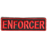Enforcer Patch In Red 3.5 Inches
