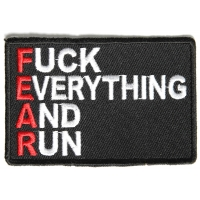 Fuck Everything And Run Fear Funny Patch