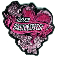 Biketoberfest 2013 Pink Hearts Roses Patch