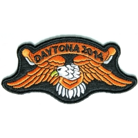 Daytona 2014 Orange Downwing Eagle Patch