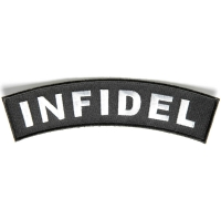 Infidel Medium Size Rocker Patch | US Military Veteran Patches