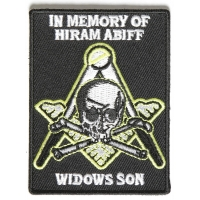 Widows Son Mason Patch In Memory Of Hiram Abiff | Embroidered Patches