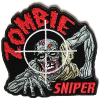 Zombie Sniper Small Patch | Embroidered Patches