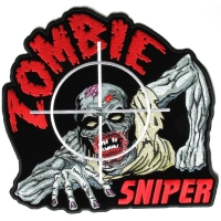 Large Zombie Sniper Back Patch | Embroidered Patches