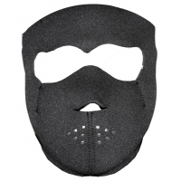 Plain Black Face Mask For Riding