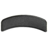 Black 4 Inch Arched Blank Patch Rocker | Embroidered Patches