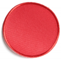 Red 3 Inch Round Blank Patch   Embroidered Patches