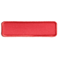 Red Name Tag Blank Patch | Embroidered Patches