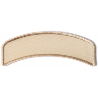 Tan 4 Inch Arched Blank Patch Rocker | Embroidered Patches