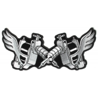 Tattoo Guns Wings Patch Large