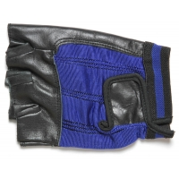 Fingerless Motorcycle Riding Gloves Blue
