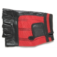 Fingerless Motorcycle Riding Gloves Red