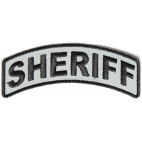 Sheriff Rocker Patch Black Gray | Embroidered Patches