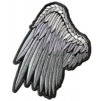 Silver Left Angel Wings Patch | Embroidered Patches