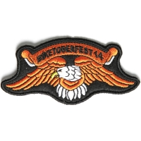 Biketoberfest 2014 Orange Downwing Eagle Biker Patch | Embroidered Patches
