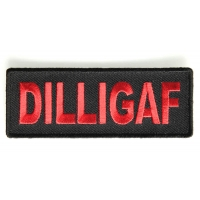 Dilligaf Patch In Red | Embroidered Patches