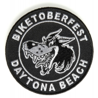 Daytona Biketoberfest Wolf Patch | Embroidered Biker Patches