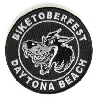 Daytona Biketoberfest Wolf Patch | Embroidered Biker Patches