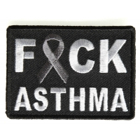 FCK Asthma Gray Ribbon Patch