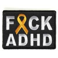 FCK ADHD Orange Ribbon Patch