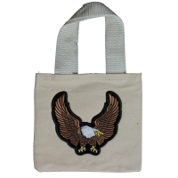 Small Canvas Bag With Brown Eagle Patch