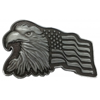 Eagle Pin With US Flag In Antique Silver Finish