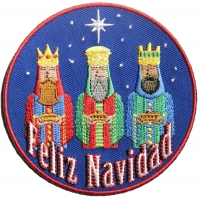 Feliz Navidad 3 Wise Men Merry Christmas Patch | Embroidered Patches