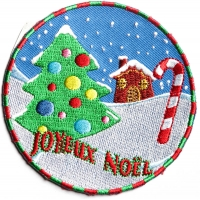 Joyeux Noel Merry Christmas Patch | Embroidered Patches