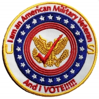 Military Veteran And I Vote Patch | US Military Veteran Patches