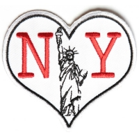 I Heart NY With Statue Of Liberty Small Patch
