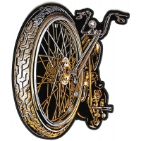 Big Wheel And Spokes Motorcycle Back Patch | Embroidered Biker Patches