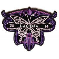 Laconia 2014 Patch Purple Butterfly