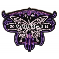 Myrtle Beach 2014 Patch Purple Butterfly