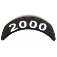 2000 Upper Rocker Patch In Black White